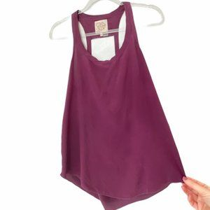 Chaser Sleeveless Silk Top Small